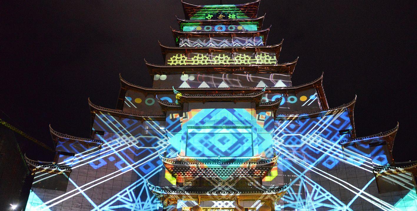 贵州锦屏文书楼大型3d