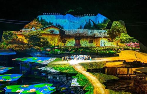 毛沢東の故郷でMHGムービングヘッドライトが光る