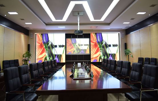 MHG fine-Pixel LED display create Multi-function conference room system for Sany Group
